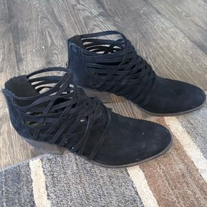Fergalicious by Fergie black ankle boots booties